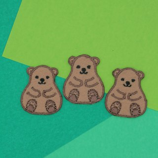 Mini Brown Bear Iron Patch (Light Brown)