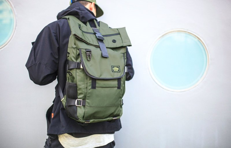 Matchwood design Matchwood Rider military regulations waterproof notebook backpack green
