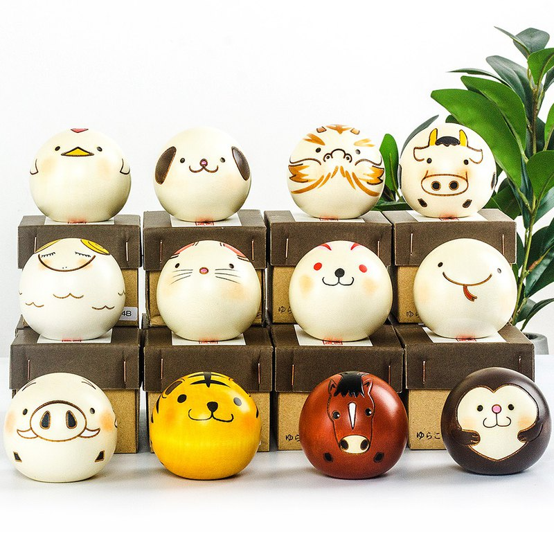 Japanese made Saburo wooden zodiac animal handmade ornaments home decorations birthday gifts