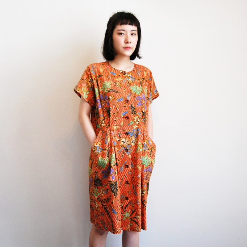Ancient Japanese print dress