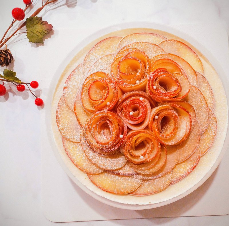 綻放的甜の水果玫瑰乳酪蛋糕(當季水果/ 8吋 )