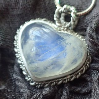 Natural Moonstone & 999-Fine-Silver Pendant, necklace
