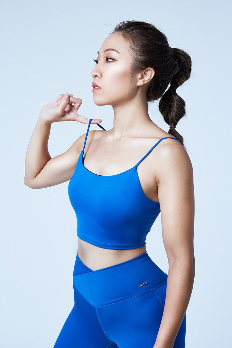 【XOFFIT】心細自由細肩帶運動內衣-寶石藍