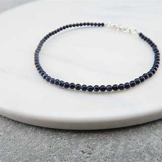 Natural stone・Bracelet Blue gravel 925 sterling silver【SZB1717】