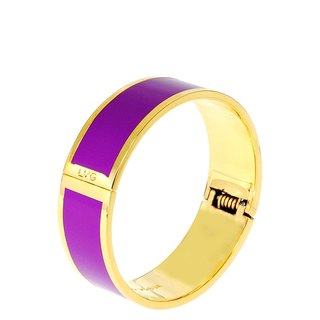 Pure color clove purple purple filigree enamel series solid color bracelet (gold) -11800159019