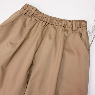 Conical casual wide pants / khaki
