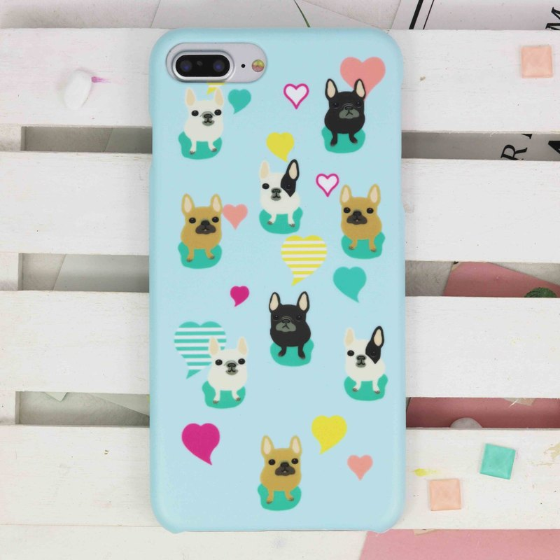 French Bulldogrigid hard Phone Case for iPhone X 8 8 plus ip8 ip8+ 7 7plus S9 S8
