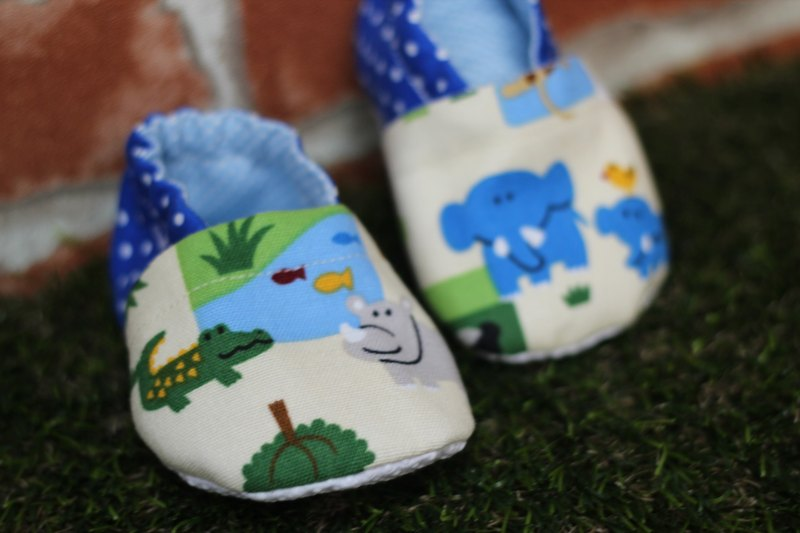 Zoo <blue> school shoes - handmade shoes