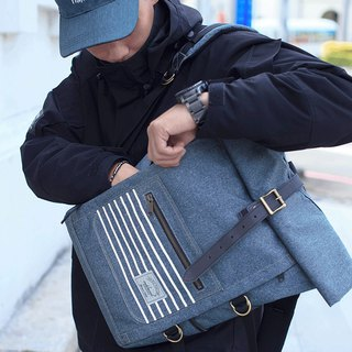 Matchwood Wood Design Matchwood Ranger Waterproof Backpack Taiwan Boutique MIT waterproof Laptop Tablet 15 吋Pen Exclusive Mezzanine Denim Blue