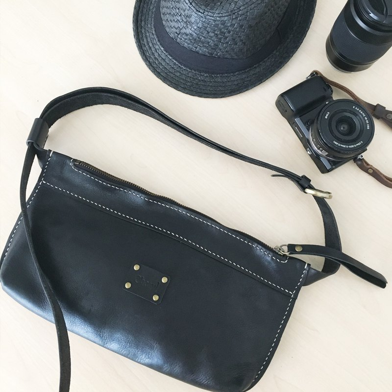 5c6d951f1 Genuine Leather Hand stitched Bum Bag / Fanny Pack / Cross Body Bag - Designer  Kinies | Pinkoi