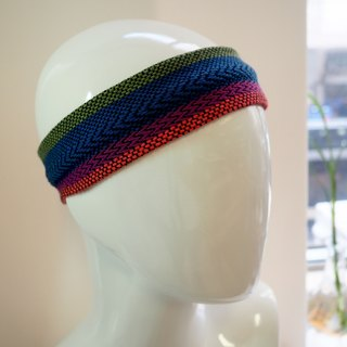 Weaving color with blue and red color