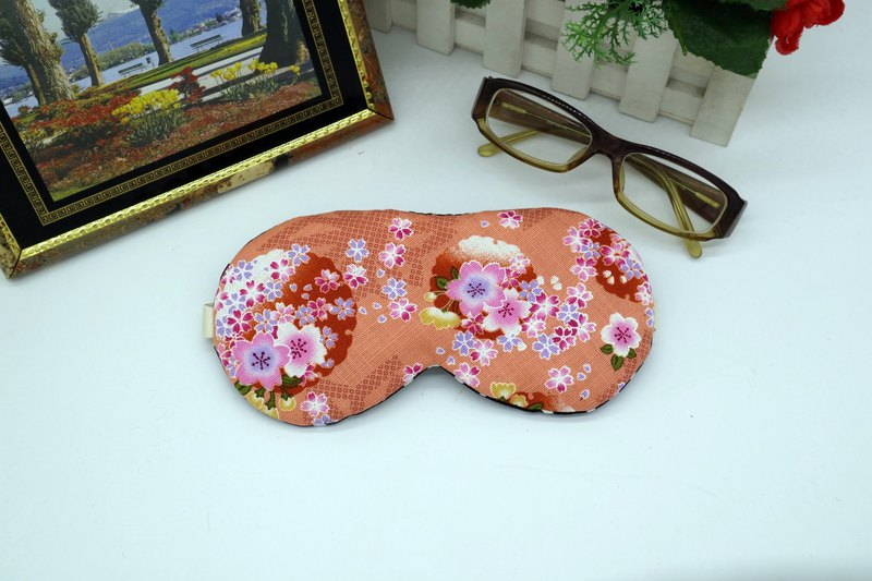 Flower sea adjustable sleep eye mask with storage bag sleep mask