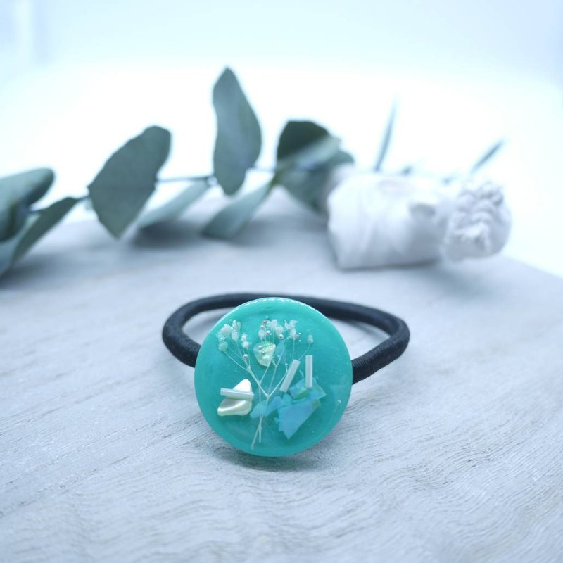 [Flower hair ring] girl's Tiffany blue
