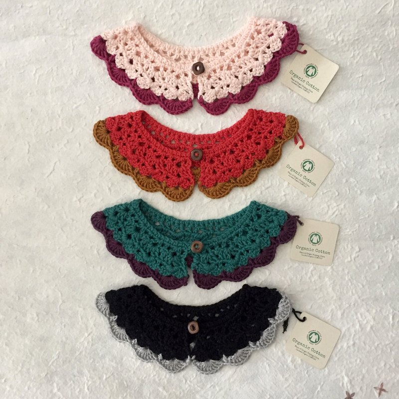 Organic cotton crochet collar  |  2-10 yr  |  duo colour combinations