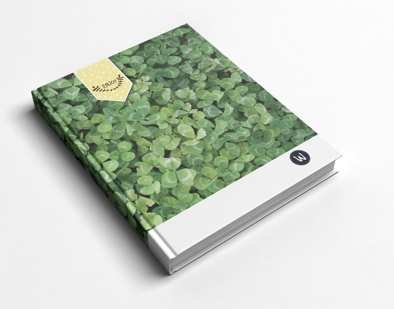 Rococo Strawberry WELKIN Hand _ Handbook / Notebook / Pocket / Diary - Plant Series Lucky