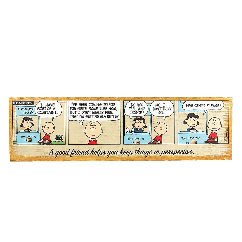 Snoopy wooden ornaments - Lucy's advice [Hallmark-Peanuts Snoopy ornaments]