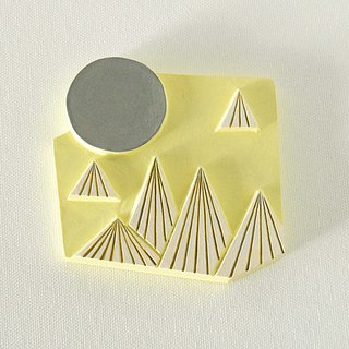 Artdeco Hand Mirror  (mountain - lemon yellow)