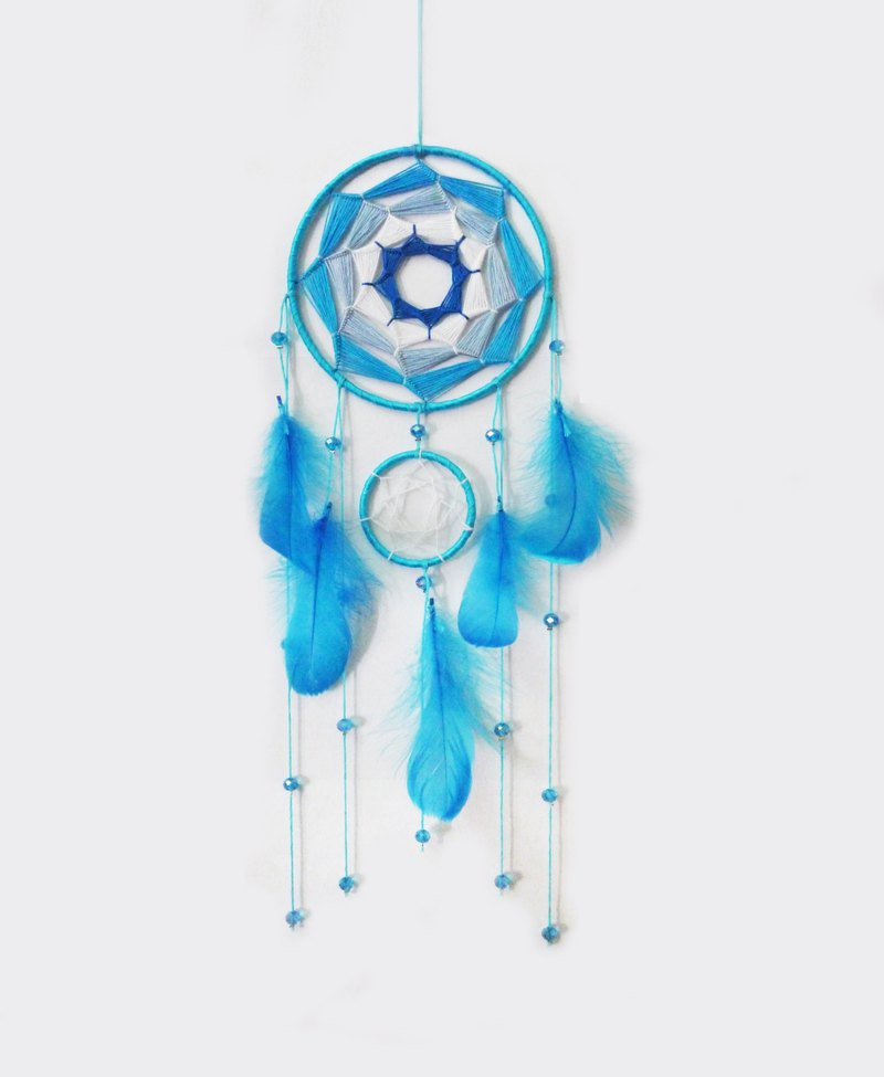 13 x 40 [After the rain] hand made / handmade large dream catcher