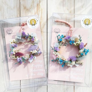 PJ Small Garden* | Boxed Dry Flower Wreath Card | Graduation Gift