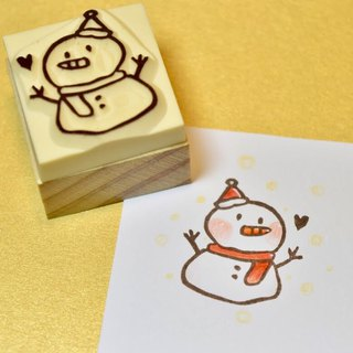 Christmas limited Christmas snowman manual rubber stamp