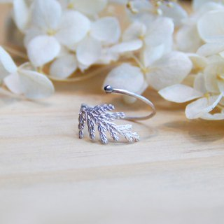 Plant Realism Series - Taiwan Cedar Leaf - 925 sterling silver hand-made ring silver gift packaging