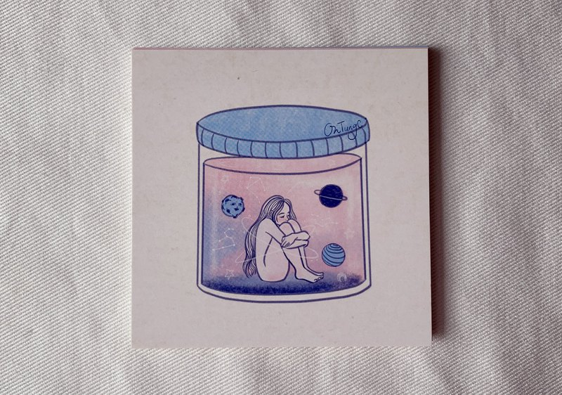 Space Jar / Postcard