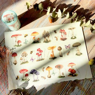 Mushroom paper tape (with release paper) 6CM