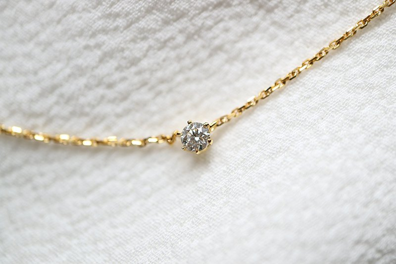 Classic six-claw diamond clavicle necklace