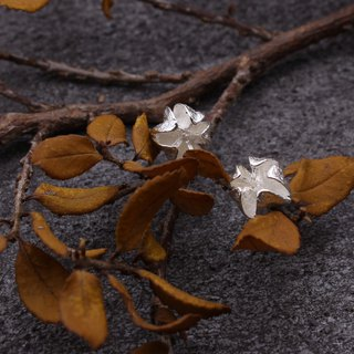 Common Crepe Myrtle Fruit 925 Sterling Silver Earrings Nature Plant