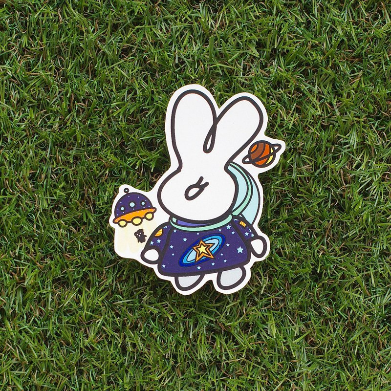 Fuzzy Family Shape Sticker - Spaceman