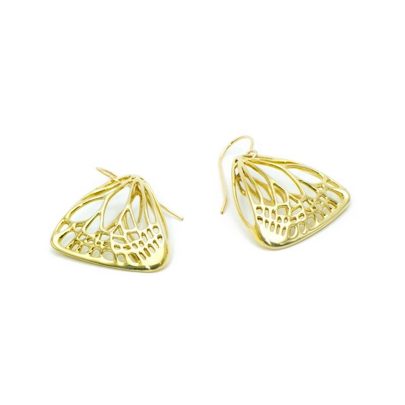 Butterfly Earrings Small // Kocho Earrings - Polished Brass