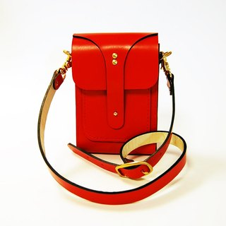 Beechen bright red leather purse