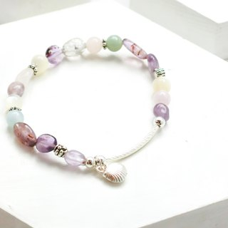 Morgan stone natural stone silver bracelet in the ocean │ color system 玥unicorn Morgan stone