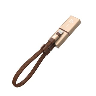 iKlips Wizard Apple iOS USB3.1 4K microSD card reader (without memory card) Gold