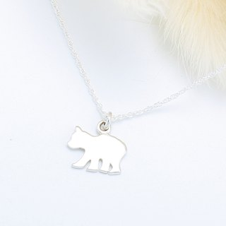 Cute Polar Bear North Pole s925 sterling silver necklace Valentine's Day gift