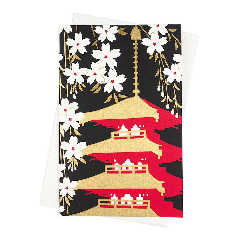 Gilding Shrine Sakura High and paper [Hallmark-card classic wind / multi-purpose]