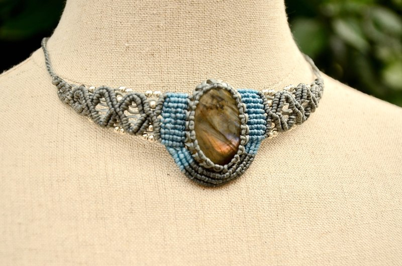 Labradorite  Macrame Necklace or Bracelet