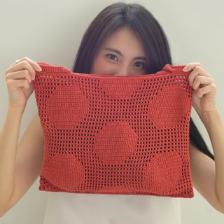 Crochet Polka Dot Tote Bag | BrickRed