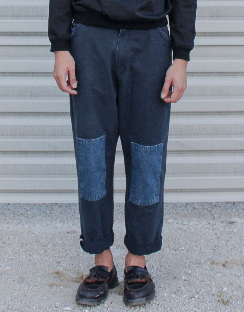 Denim Patched On Trousers