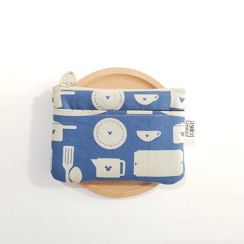 [Picnic Fun] Coin Purse Clutch Carrying Zipper Bag Christmas Exchange Gift