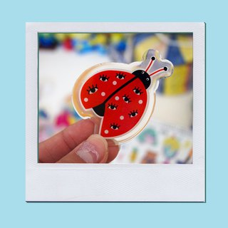 Lady bug brooch