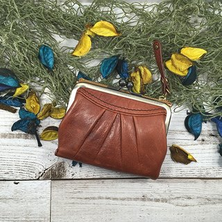 010BR Bonheur / Coin purse / Gamaguchi / Folded wallet / 2 fold / leather / leather / soft / mouthpiece / half wallet Bonheur / Coin purse / Gamaguchi / Folded wallet / Folded in half / leather / leather / soft / mouthpiece / halfwallet / Folded money pack