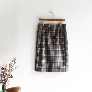 River water mountain - Fukui ink gray green pattern love log sheep plush antique straight skirt Japanese college students dress dress vintage