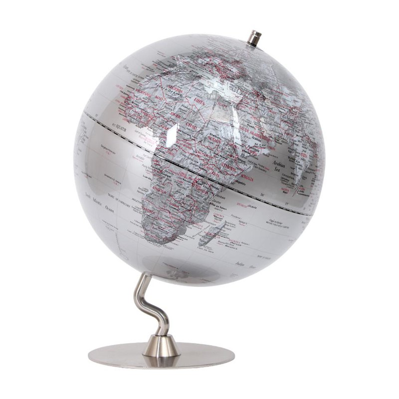 Skyglobe 12吋 Silver Fashion Metal Base Globe (English)