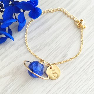 Blue Planet Bracelet Initial Letter A to Z Gift wedding