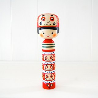 Kokeshi doll/ Girl and Dharma /