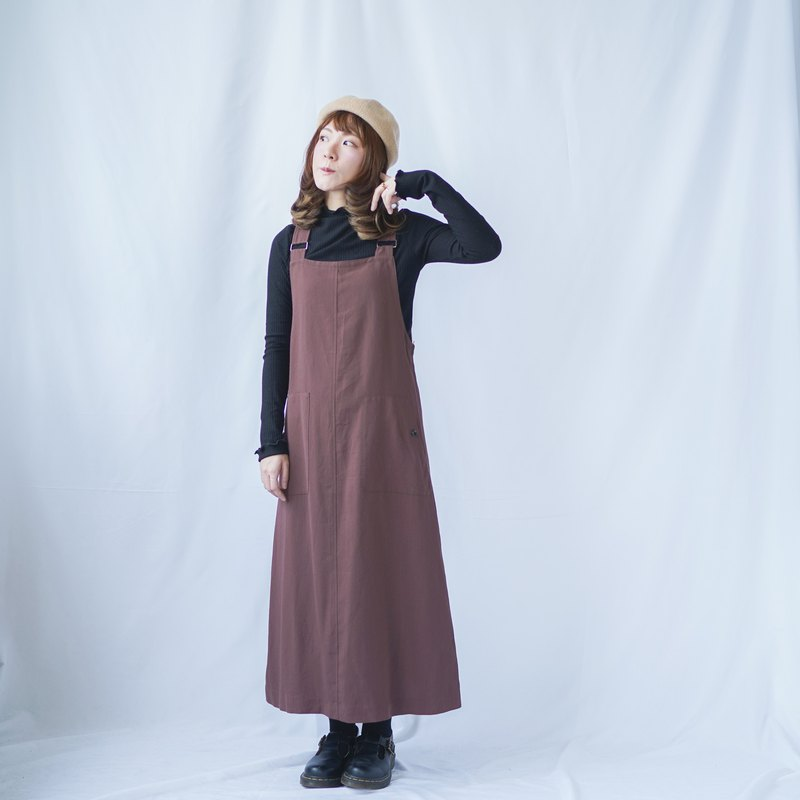 Vintage Rosewood Dungaree Dress