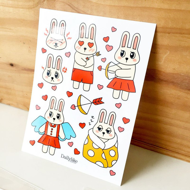 DIY self-scrapbook paper bag (4 in) -47 Qiubi rabbit, E2D17651