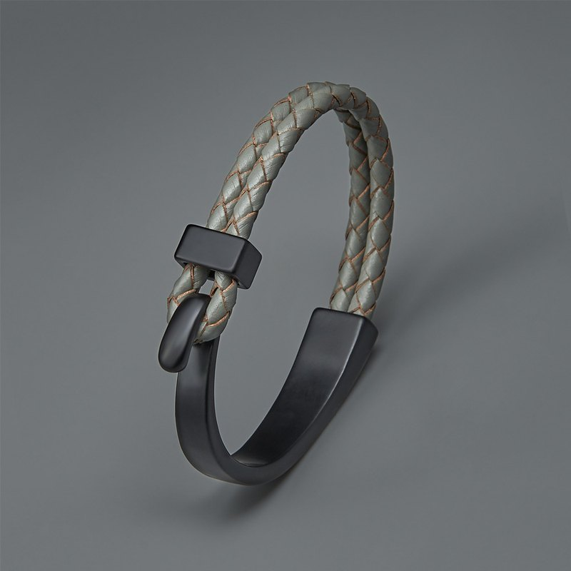 Buckle clasp leather bracelet