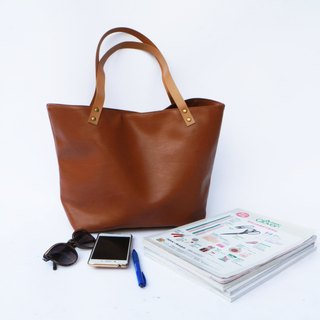 Vegan Leather Handbag Tote almond, tote bag, vegan leather bag, canvas bag, leather strap, Market Bag, Teacher Bag